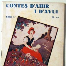 Libros antiguos: CRISTIÀ ANDERSEN, HANS - CONTES D'AHIR I D'AVUI. NÚM 19 - BARCELONA 1935. Lote 58354804