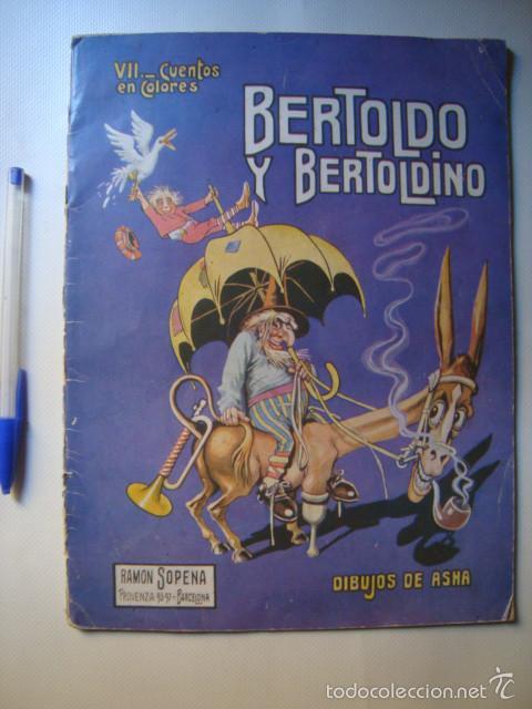 BERTOLDO Y BERTOLDINO - DELLA CROCE (SOPENA, AÑOS 30). ILUSTRACIONES COLOR ASHA. (Libros Antiguos, Raros y Curiosos - Literatura Infantil y Juvenil - Cuentos)