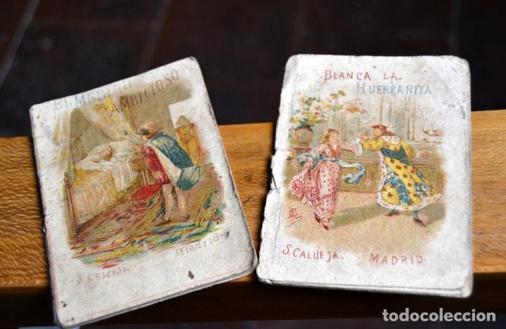 2 ANTIGUOS MINI CUENTOS CALLEJA * BLANCA LA HUERFANITA 1891 * EL MEDICO AMBICIOSO 1891 (Libros Antiguos, Raros y Curiosos - Literatura Infantil y Juvenil - Cuentos)