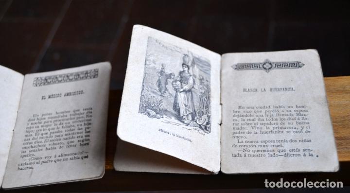 Libros antiguos: 2 ANTIGUOS MINI CUENTOS CALLEJA * BLANCA LA HUERFANITA 1891 * EL MEDICO AMBICIOSO 1891 - Foto 2 - 62076208