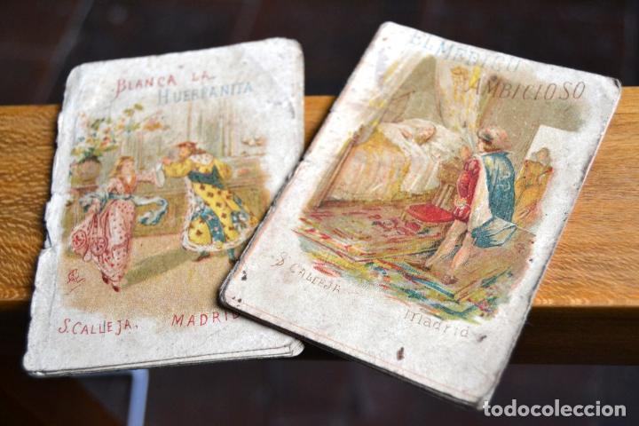 Libros antiguos: 2 ANTIGUOS MINI CUENTOS CALLEJA * BLANCA LA HUERFANITA 1891 * EL MEDICO AMBICIOSO 1891 - Foto 6 - 62076208