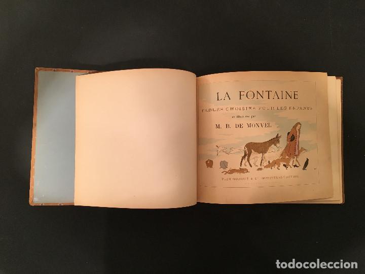 Libros antiguos: 1888 LA FONTAINE & BOUTET de MONVEL: Fables choisies pour les enfants et illustrées - FABULAS - Foto 7 - 62598792