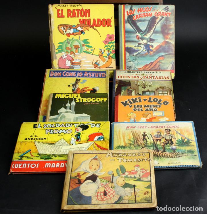 8101 - LITERATURA INFANTIL. 9 EJEMPLARES(VER DESCRIP). VV. AA. VV. EDITORIALES. 1935/1936. (Libros Antiguos, Raros y Curiosos - Literatura Infantil y Juvenil - Cuentos)