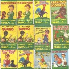 Libros antiguos: CR068 LOTE DE 35 EJEMPLARES DE CUENTOS ENANOS - SERIES B, C Y D - ALGUNOS REPETIDOS. Lote 44253256