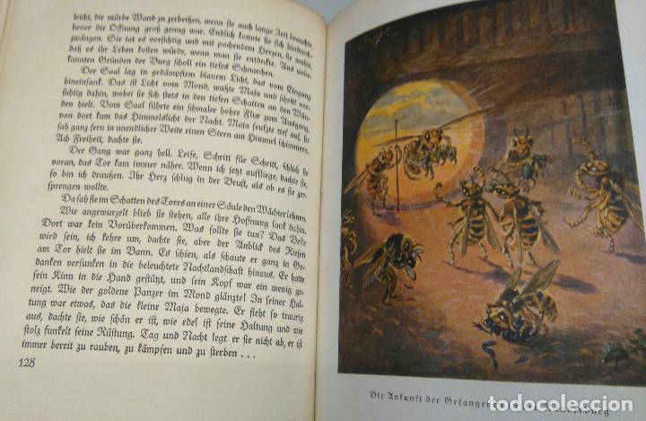 Libros antiguos: CUENTO INFANTIL,LA ABEJA MAYA,PRIMERA EDICION MUNDIAL,AÑO 1912,EDITADO EN ALEMANIA,DIE BIENE MAJA. - Foto 3 - 64594879