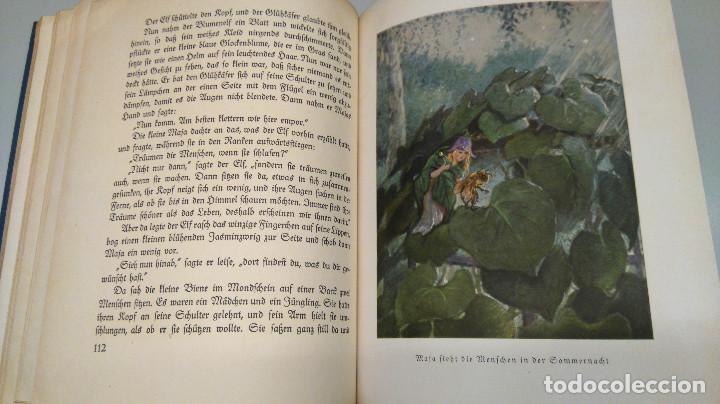 Libros antiguos: CUENTO INFANTIL,LA ABEJA MAYA,PRIMERA EDICION MUNDIAL,AÑO 1912,EDITADO EN ALEMANIA,DIE BIENE MAJA. - Foto 8 - 64594879