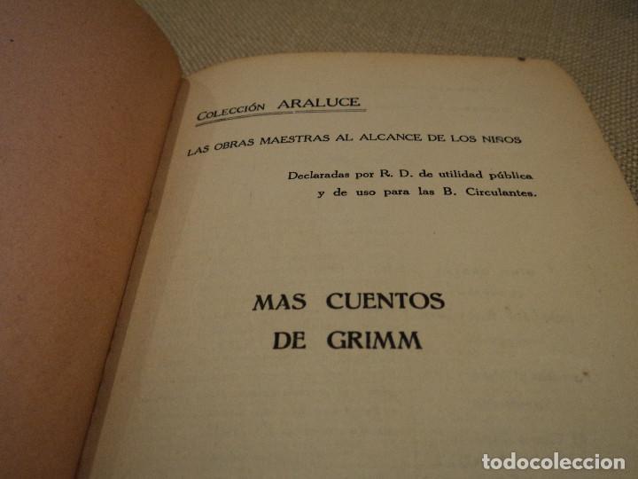 Libros antiguos: mas cuentos de grimm coleccion editorial araluce 1914 118 paginas 15 x 12 cm - Foto 2 - 65884882