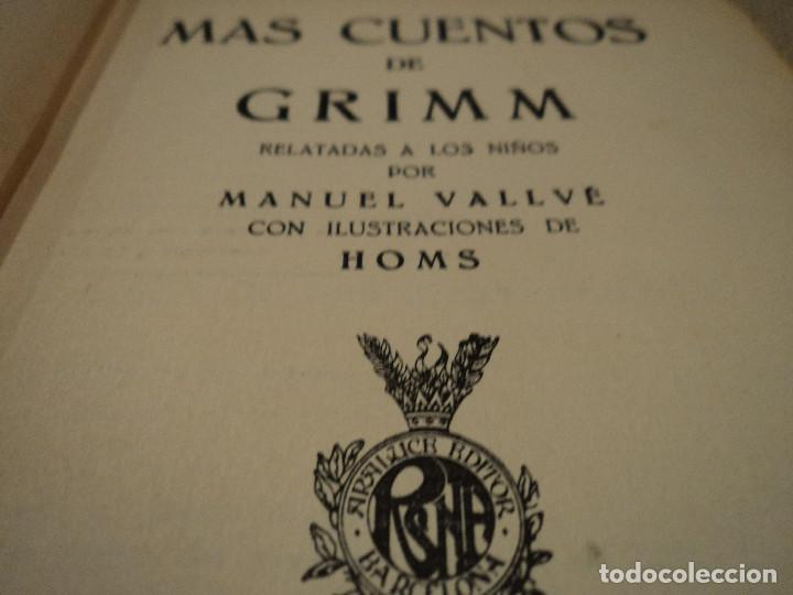 Libros antiguos: mas cuentos de grimm coleccion editorial araluce 1914 118 paginas 15 x 12 cm - Foto 5 - 65884882