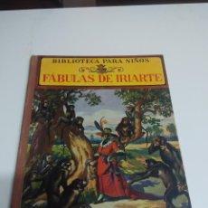 Libros antiguos - Fabulas de Iriarte. Ed Ramón Sopena.Biblioteca para niños - 67306561