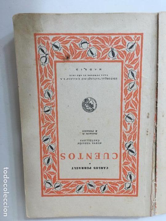 Libros antiguos: CUENTOS DE PERRAULT EDIT.SATURNINI CALLEJA 1936 ILUSTRADO POR R. PENAGOS - Foto 4 - 71784607