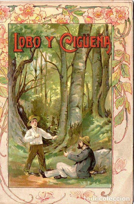 RECASENS : COLECCIÓN ESOPO - EL LOBO Y LA CIGÜEÑA (PERELLÓ Y VERGÉS, 1910) (Libros Antiguos, Raros y Curiosos - Literatura Infantil y Juvenil - Cuentos)