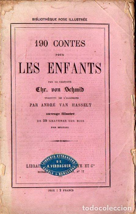 SCHMID : 190 CONTES POUR LES ENFANTS (HACHETTE, 1868) EN FRANCÉS, CON 29 GRABADOS (Libros Antiguos, Raros y Curiosos - Literatura Infantil y Juvenil - Cuentos)