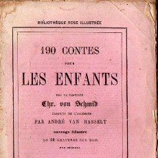 Libros antiguos: SCHMID : 190 CONTES POUR LES ENFANTS (HACHETTE, 1868) EN FRANCÉS, CON 29 GRABADOS. Lote 73520955