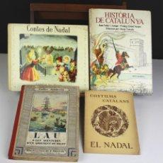 Libros antiguos: 8326 - LOTE DE 4 EJEMPLARES. LITERATURA JUVENIL EN CATALÁN. VV. EDIC.(VER DESCRIP). 1933/1978.. Lote 73932823
