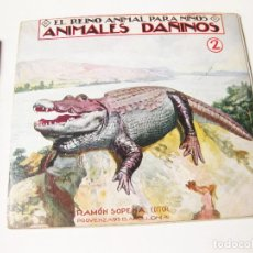 Libros antiguos: EL REINO ANIMAL PARA NIÑOS NÚMERO 2. ANIMALES DAÑINOS.. Lote 74616423