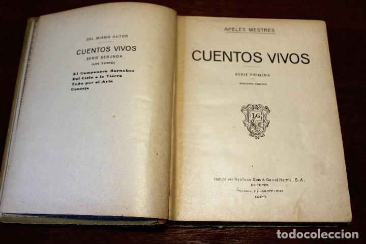 Libros antiguos: Cuentos vivos ilustrados por Apeles Mestres 1929 ( libros ilustrados infantiles) Apel·les Mestres - Foto 4 - 74717331