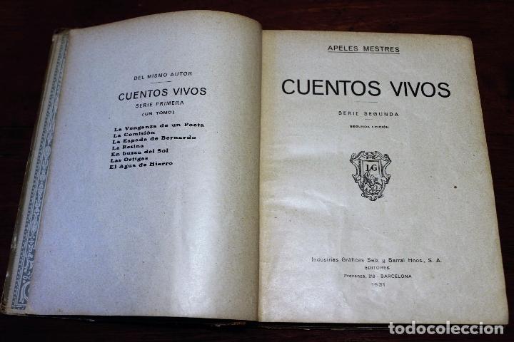 Libros antiguos: Cuentos vivos ilustrados por Apeles Mestres 1929 ( libros ilustrados infantiles) Apel·les Mestres - Foto 10 - 74717331