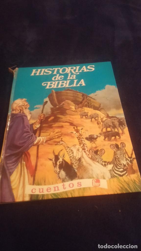 HISTORIAS DE LA BIBLIA CUENTOS FHER 1974 (Libros Antiguos, Raros y Curiosos - Literatura Infantil y Juvenil - Cuentos)