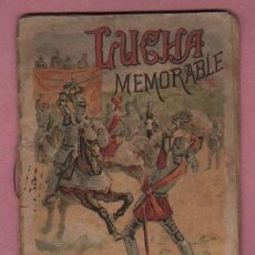 Libros antiguos: MINI CUENTO CALLEJA - LUCHA MEMORABLE COLE INFANTIL - 1902. Lote 75920207