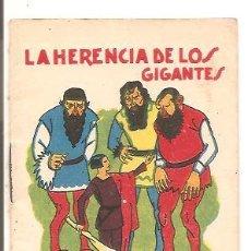 Libros antiguos: CUENTOS DE CALLEJA - LA HERENCIA DE LOS GIGANTES - RECREO INFANTIL SERIE V - TOMO 91. Lote 77420877