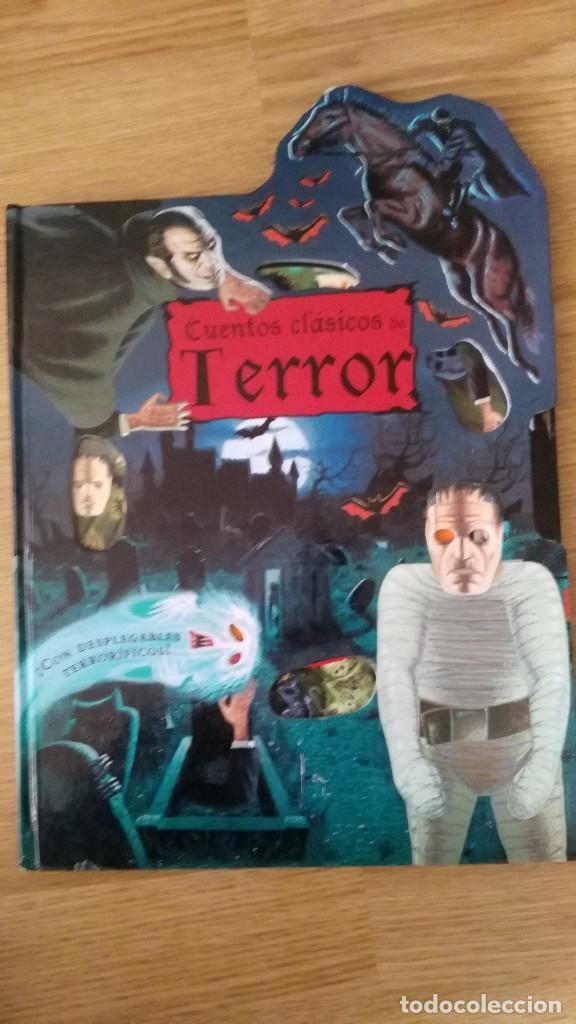CUENTOS CLASICOS DE TERROR - CON DESPLEGABLES TERRORIFICOS-SUSAETA EDICIONES-MUY DIFICIL (Libros Antiguos, Raros y Curiosos - Literatura Infantil y Juvenil - Cuentos)