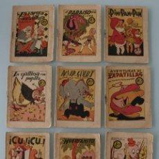 Libros antiguos: LOTE 9 ANTIGUOS CUENTOS COLECCIÓN TESORO DE CUENTOS INFANTILES – ORIGINALES EDITORIAL EL GATO NEGRO. Lote 79828865