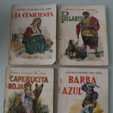 Libros antiguos: COLECCIÓN CUENTOS ILUSTRADOS PARA NIÑOS. RAMON SOPENA AÑOS 30. CUATRO TITULOS – CLASICOS . Lote 79828949