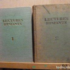 Libros antiguos: LECTURES D,INFANTS 2 TOMOS CON DIBUJOS DE LOLA ANGLADA Y JOSEP OBIOLS 1934. Lote 114828767