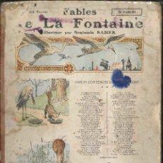 Libros antiguos: LA FONTAINE E FABLE CUENTO EN FRANCES ( 70 FABLE). Lote 81064408