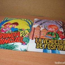 Libros antiguos: CUENTO TROQUELADO LA VENDEDORA DE FÓSFOROS, YORINGA Y YORINGUEL. Lote 82055096