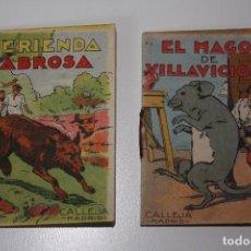 Libros antiguos: CUENTOS DE CALLEJA EL MAGO DE VILLAVICIOSA Y MERIENDA SABROSA. SERIE II - Nº 34 Y 37 . Lote 86168612