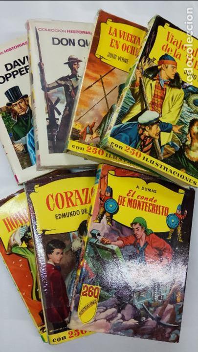 LOTE 7 LIBROS, 6 LIBROS COLECCION HISTORIAS, BRUGUERA Y 1 COLECCION CADETE INFANTIL, S. GERVASIO, (Libros Antiguos, Raros y Curiosos - Literatura Infantil y Juvenil - Cuentos)