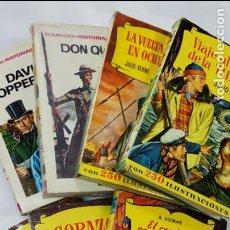 Libros antiguos: LOTE 7 LIBROS, 6 LIBROS COLECCION HISTORIAS, BRUGUERA Y 1 COLECCION CADETE INFANTIL, S. GERVASIO,. Lote 86838368
