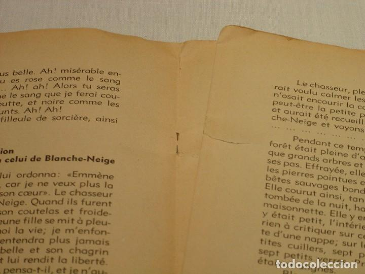 Libros antiguos: BLANCHE NEIGE - DOS ANTIGUOS CUENTOS EN FRANCÉS - BLANCANIEVES - Foto 4 - 87472664