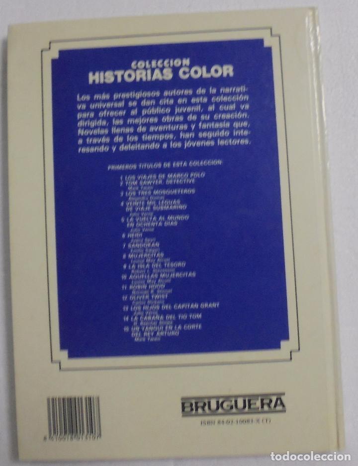 Libros antiguos: VEINTE MIL LEGUAS DE VIAJE SUBMARINO. JULIO VERNE. BRUGUERA-HISTORIAS COLOR - Foto 2 - 87709120
