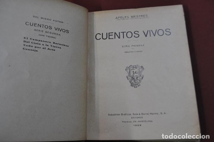 Libros antiguos: cuentos vivos , serie primera segunda edición 1929 , apeles mestres - IEB - Foto 2 - 88342680