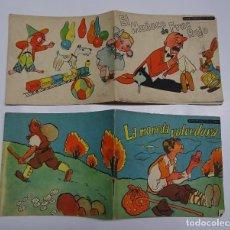 Libros antiguos: CONSTANCIO C VIGIL: EL MUÑECO DE FRAC ROJO Y LA MONEDA VOLVEDORA, LOTE 2 CUENTOS. 14,5X12,5 CMS. Lote 89422568