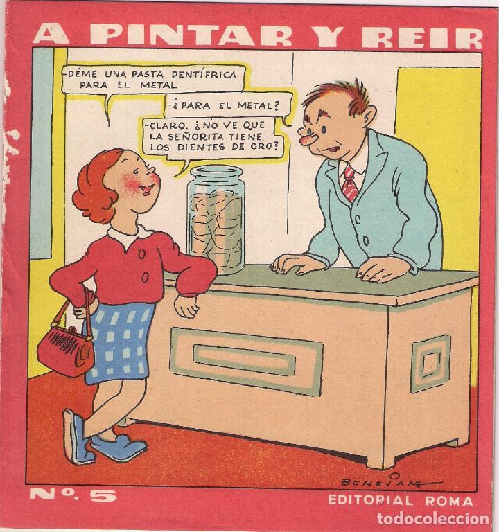CUENTO PARA PINTAR : A PINTAR Y REIR - Nº 5 EDITORIAL ROMA - AÑO 1959 (Libros Antiguos, Raros y Curiosos - Literatura Infantil y Juvenil - Cuentos)