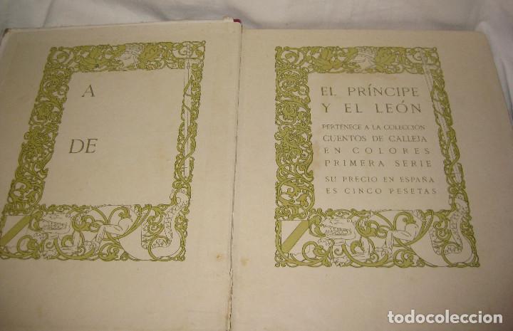 Libros antiguos: EL PRINCIPE Y EL LEON CUENTOS DE CALLEJA. DEL AÑO 1916 - Foto 2 - 90466299