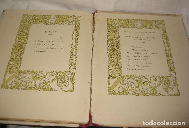 Libros antiguos: EL PRINCIPE Y EL LEON CUENTOS DE CALLEJA. DEL AÑO 1916 - Foto 5 - 90466299