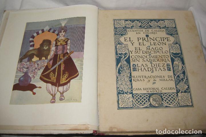 Libros antiguos: EL PRINCIPE Y EL LEON CUENTOS DE CALLEJA. DEL AÑO 1916 - Foto 6 - 90466299
