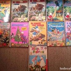 Libri antichi: 11 LIBROS ANTIGUOS WALT DISNEY AÑOS 1960-1970 USADOS DONALD PLUTO MARY POPPINS MICKEY MOUSE .... Lote 90972535