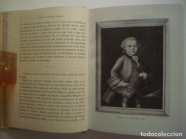 Libros antiguos: LIBRERIA GHOTICA. MOZART. 1940. VIDAS DE GRANDES HOMBRES. OBRA ILUSTRADA. - Foto 2 - 92204185