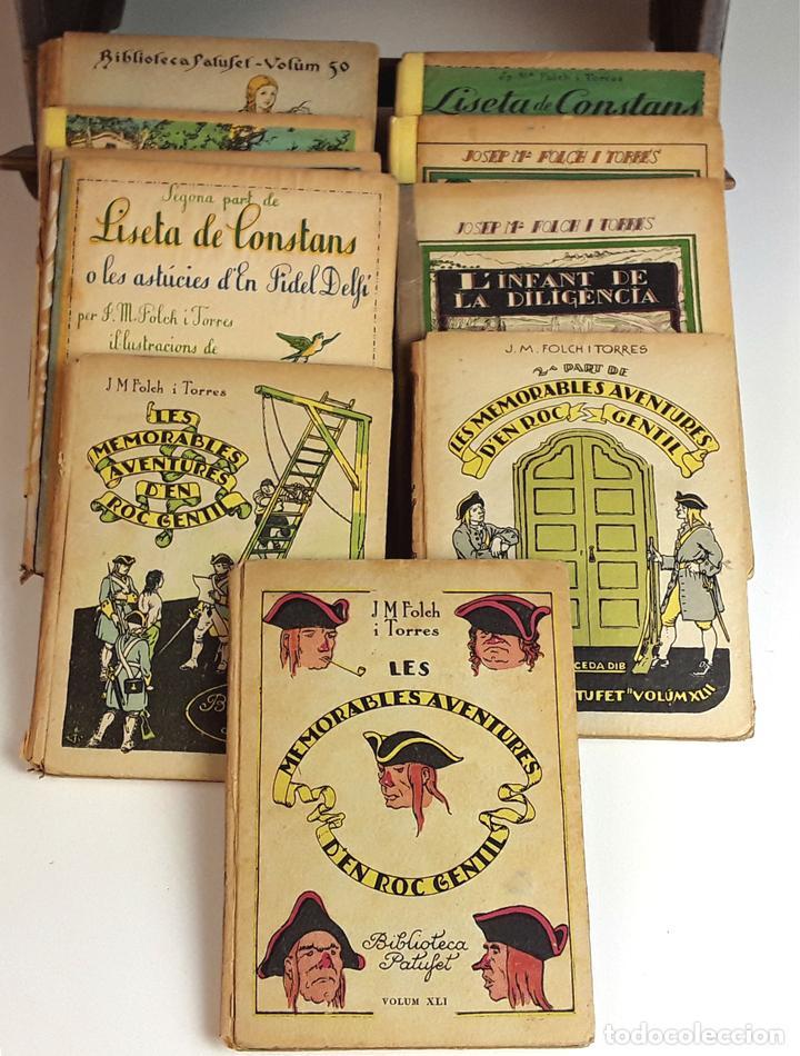 BIBLIOTECA PATUFET. 11 TOMOS. J. M. FOLCH I TORRES. EDITOR JOSEP BAGUÑÁ. 1922/1925. (Libros Antiguos, Raros y Curiosos - Literatura Infantil y Juvenil - Cuentos)