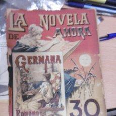 Libros antiguos: NOVELA DE AHORA, LA: EDMUNDO ABOUT: GERMANA.. Lote 95706831