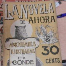 Libros antiguos: NOVELA DE AHORA, LA: VÍCTOR CHERBULIEZ: EL CONDE KOSTIA. Lote 95707199