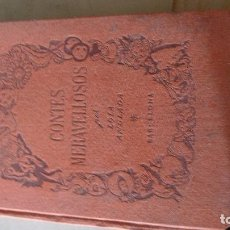 Libros antiguos: BRUTAL LIBRO CONTES MERAVELLOSOS LOLA ANGLADA 2A ED 1947 PAPER PLATIN LAMINES SANGUINA. Lote 99212039