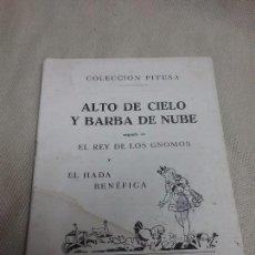 Libros antiguos: CUENTO ALTO DE CIELO Y BARBA DE NUBE Y MÁS - COLECCIÓN PITUSA - ED. HYMSA . Lote 99752947