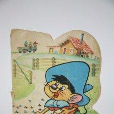 Livros antigos: CUENTO TROQUELADO - SPEEDY GONZALEZ, Nº 21 / MINITROQUELADOS TELE COLOR - BRUGUERA, 1966. Lote 100518123