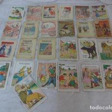 Libros antiguos: LOTE DE 25 PEQUENO ANTIGUO CUENTO DE TIPO CALLEJAS, EN CATALAN, CUENTOS. FALUGA. ESQUITX.. Lote 101214691